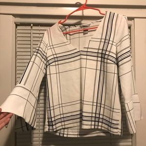 H&M black and white professional blouse